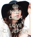 KEEP CALM AND LOVE C.R JEPSEN - Personalised Poster large