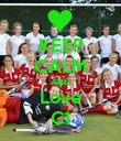 KEEP CALM AND Love C1 - Personalised Poster large