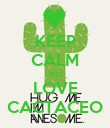 KEEP CALM and LOVE CACTACEO - Personalised Poster large