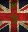 KEEP CALM AND LOVE CAI - Personalised Poster large