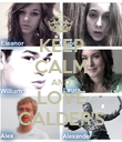 KEEP CALM AND LOVE CALDER'S - Personalised Poster large
