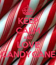 KEEP CALM AND LOVE CANDYCANE - Personalised Poster large