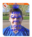 KEEP CALM AND LOVE CAPTAIN - Personalised Poster large