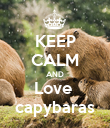 KEEP CALM AND Love  capybaras - Personalised Poster large