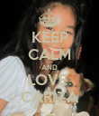 KEEP CALM AND LOVE  CARIZA - Personalised Poster large