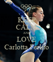 KEEP CALM AND LOVE Carlotta Ferlito - Personalised Poster large