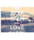 KEEP CALM AND LOVE CAROL - Personalised Poster large