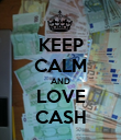 KEEP CALM AND LOVE CASH - Personalised Poster large