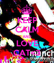 KEEP CALM AND LOVE CAT<3 - Personalised Poster large