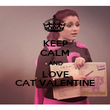 KEEP CALM AND LOVE CAT VALENTINE - Personalised Poster large