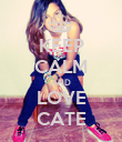 KEEP CALM AND LOVE CATE - Personalised Poster large