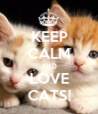 KEEP CALM AND LOVE CATS! - Personalised Poster large