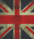 KEEP CALM AND LOVE CHEER - Personalised Poster large