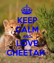 KEEP CALM AND LOVE CHEETAH  - Personalised Poster large