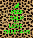 KEEP CALM AND LOVE  CHEETAHS - Personalised Poster large