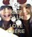 KEEP CALM AND LOVE CHERIE - Personalised Poster large