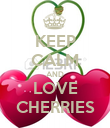 KEEP CALM AND LOVE CHERRIES - Personalised Poster large