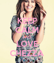 KEEP CALM AND LOVE CHEZZA - Personalised Poster small