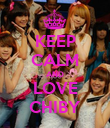 KEEP CALM AND LOVE CHIBY - Personalised Poster large