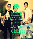 KEEP CALM AND LOVE    Chicser - Personalised Poster large