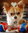 KEEP CALM AND LOVE CHIHUAHUA - Personalised Poster large