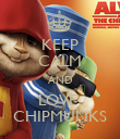KEEP CALM AND LOVE  CHIPMUNKS - Personalised Poster large