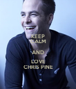 KEEP CALM AND LOVE CHRIS PINE - Personalised Poster large