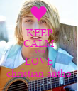 KEEP CALM AND LOVE christian antho - Personalised Poster large
