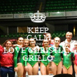 KEEP CALM AND LOVE CHRISTIAN GRILLO  - Personalised Poster large