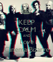 KEEP CALM AND Love Cinema Bizarre - Personalised Poster large