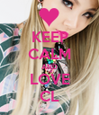 KEEP CALM AND LOVE CL - Personalised Poster large
