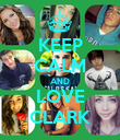 KEEP CALM AND LOVE CLARK - Personalised Poster large