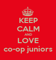 KEEP CALM AND LOVE co-op juniors - Personalised Poster large