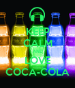 KEEP CALM AND LOVE COCA-COLA - Personalised Poster large
