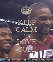 KEEP CALM AND LOVE COLE - Personalised Poster large
