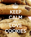 KEEP CALM AND LOVE COOKIES - Personalised Poster large