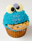 KEEP CALM AND LOVE COOKIES  AND CAKES - Personalised Poster large