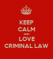 KEEP CALM AND LOVE CRIMINAL LAW - Personalised Poster large
