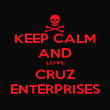 KEEP CALM AND  LOVE  CRUZ ENTERPRISES - Personalised Large Wall Decal