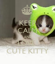 KEEP CALM AND LOVE  CUTE KITTY - Personalised Poster large