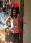 KEEP CALM AND LOVE CUTE UMBER X - Personalised Poster large