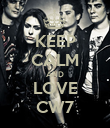 KEEP CALM AND LOVE CW7 - Personalised Poster large