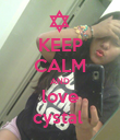 KEEP CALM AND love cystal  - Personalised Poster large