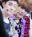 KEEP CALM AND LOVE D.O - Personalised Poster large