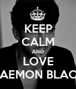 KEEP CALM AND LOVE DAEMON BLACK - Personalised Poster large