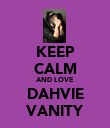 KEEP CALM AND LOVE DAHVIE VANITY - Personalised Large Wall Decal