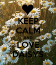 KEEP CALM AND LOVE DAISYS - Personalised Poster large