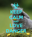 KEEP CALM AND LOVE DANGER - Personalised Poster large
