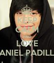 KEEP CALM AND LOVE DANIEL PADILLA - Personalised Large Wall Decal