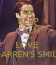 KEEP CALM AND LOVE  DARREN'S SMILE - Personalised Poster large